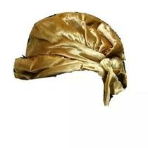 Christian Dior C.1960s Gold Silk Velvet Tied Back Bow Turban Cloche Hat Photo