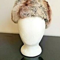 Christian Dior Chapeau Chinchilla Hat With Grossgrain Vintage Fur Hat 1960's Photo
