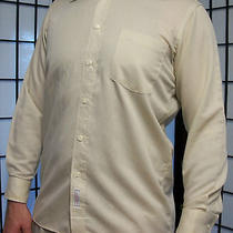 Christian Dior Chemises Mens Ribbed Long Sleeve Vintage Dress Shirt 15 1/2 32-33 Photo