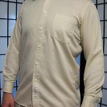 Christian Dior Chemises Mens Ribbed Long Sleeve Vintage Dress Shirt 15 1/2 32-33 Photo