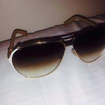 Christian Dior Chicago 2/s Aviator Sunglasses White Gold Mother of Pearl Photo