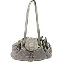 Christian Dior Chrome Silver Quilted Leather Satchel Photo