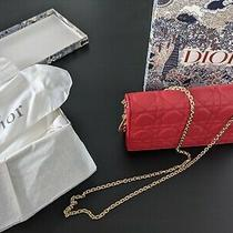 Christian Dior Clutch Red Ultramatte Cannage Calfskin Photo