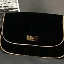 Christian Dior Clutch Velvet Black Gold Photo