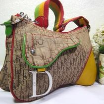 Christian Dior Colorful Thick Monogram Canvas Small Hobo Shoulder Bag Italy Photo