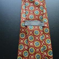 Christian Dior Cravate Mens Geometric Multi-Color 100% Silk Mens Designer Tie Photo