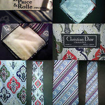 Christian Dior Cravates Paris New York High End Rare Vintage Neck Tie Photo