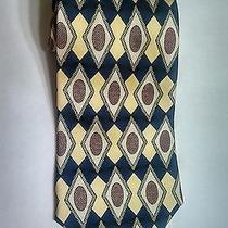 Christian Dior.... Dark Blue Yellow & Wine Tie Photo