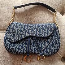 Christian Dior Denim Double Saddle Bag Photo