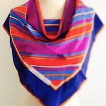 Christian Dior Designer Silk Colorful Scarf - 27 X 27 Photo
