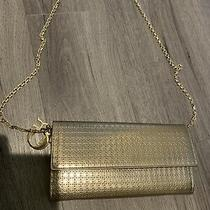 Christian Dior Diorama Gold Mettalic Wallet Chain Bag Photo