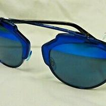 Christian Dior Diorsoreal Dark Blue Havana Blue Mirrored Sunglasses -New Photo