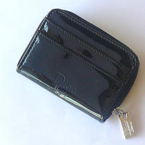 Christian Dior Diva Wallet Black  Patent Leather Coin Key Card Case  Wallet  Photo