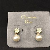 Christian Dior Earrings Used (4743b Photo
