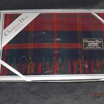 Christian Dior Fringed Cashmaire Scarf 100% Acrylic Unused in Package Photo