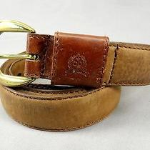 Christian Dior Full Grain Leather Belt Distressed 219102 24 Brown 36 Spain Photo