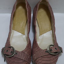 Christian Dior Genuine Python Skin Ballet Flats Shoes Italian Size 39 Photo