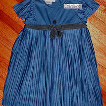 Christian Dior Girl's Dressy Blue Pleated Dress Mother-of-Pearl Dior Badge 3 Yr  Photo