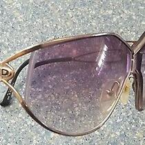 Christian Dior Gold Fancy Large Designer Glasses Frames Made in Austria Photo