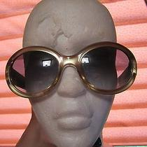 Christian Dior Gold Sunglasses Cd Jackie O Plastic With Case Photo