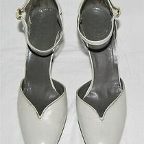 Christian Dior Gray Leather Cutout d'orsay Point Toe Ankle Strap Heeled Pump 8aa Photo