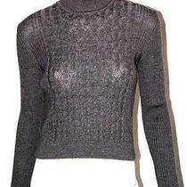 Christian Dior Gray Merino Wool Cable Knit Turtleneck Sweater S Photo
