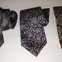 Christian Dior Group of 3 Silk Luxurious Neckties Photo