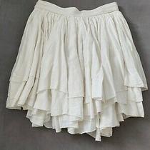 Christian Dior Ivori Skirt Tiered Raffle Skirt 34eu High Waist 34cm 13.38