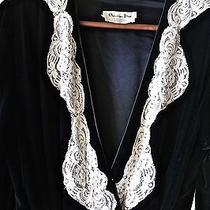 Christian Dior L.magnin Vintage Blackvelvet and Lace Robe Photo