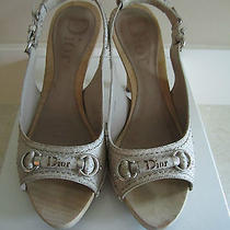 Christian Dior Ladies My Dior Sandale Beige Sling Back Size 39.5 Photo