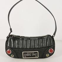 Christian Dior License Plate Purse Black Denim Shoulder Bag Damaged Photo