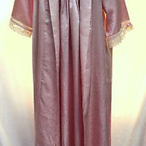 Christian Dior Lingerie Lace Trimmed Long Gown & Robe Tone-on-Tone Dusty Rose Ml Photo