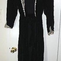 Christian Dior Lingerie Velvet Robe Laced Black Large Cream Photo