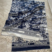 Christian Dior Long Cashmere Scarf Blue Photo
