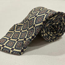 Christian Dior Men's Cream Patterned Silk Tie 130 Photo