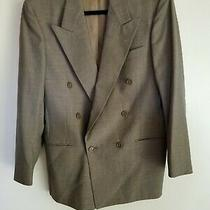 Christian Dior Mens Gray Plaid Double Breasted Blazer Jacket Sports Coat Sz 38 R Photo