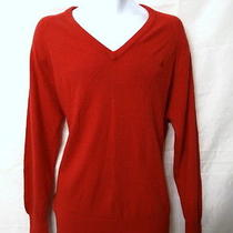 Christian Dior Mens Red v Neck Acrylic sweater.l.amazing Photo