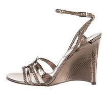 Christian Dior Metallic Wedge Sandals Nwb 8 Photo
