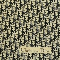 Christian Dior Monogram Dior Black Cotton Scarf 22 Inches Photo
