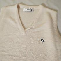 Christian Dior Monsieur Cream Sweater Vest Acrylic Size S Photo