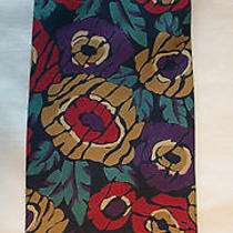 Christian Dior Monsieur Designer Necktie. 100% Silk High End Floral Neck Tie. Photo