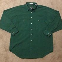 Christian Dior Monsieur Rare Vintage Dress Shirt Green Button Up Mens Size Med Photo