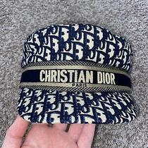 Christian Dior Newsboy Hat Blue Medium Photo