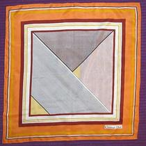 Christian Dior Orange Silk Scarf 30x30 Photo