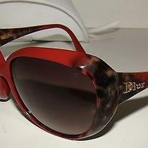 Christian Dior Panther Red Sunglasses With White Dior Pouch Photo