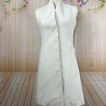 Christian Dior Paris Vintage Long Sleeveless Button Cream Ivory Vest Dress Photo