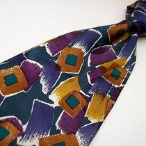 Christian Dior  Purple Art Decp    Silk Tie 77a Photo
