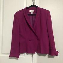 Christian Dior Purple Vintage Wool Blazer Size 14 Photo