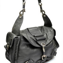 Christian Dior Rebelle Hobo Black Leather Shoulder Bag Handbag Rebel Photo