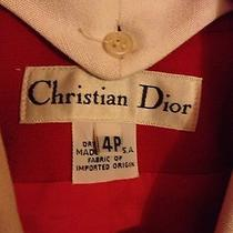 Christian Dior Red Jacket Photo